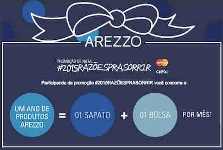 Promoção Arezzo 2015 Razões Pra Sorrir