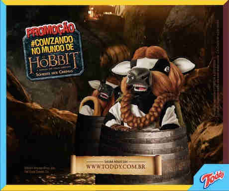 Promoção Toddy #cowzando No Mundo De O Hobbit