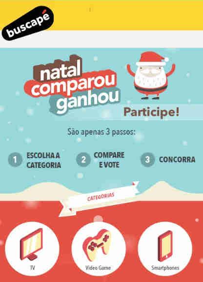 Promoção Buscapé Natal Comparou, Ganhou