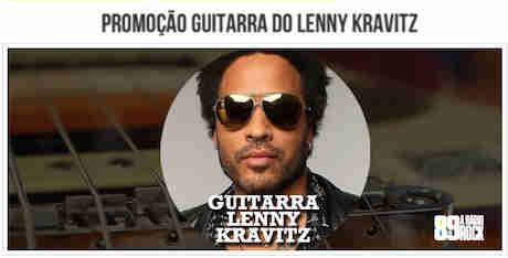 Promoção 89 Fm Guitarra Do Lenny Kravitz