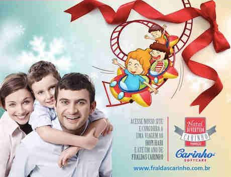 Promoção Natal Divertido Fraldas Carinho
