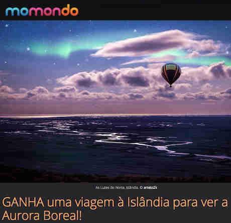 Concurso Momondo À Procura Da Aurora Boreal