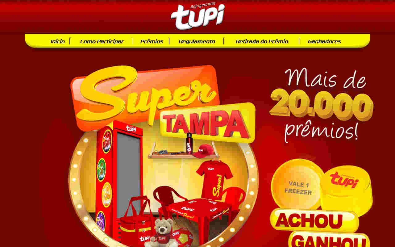 Promoção Super Tampa Tupi