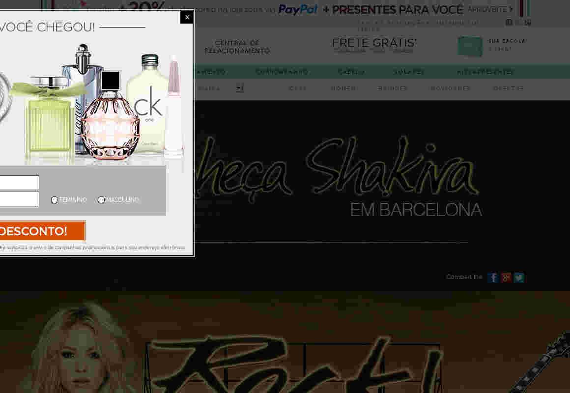 Promoção Conheça Shakira Em Barcelona