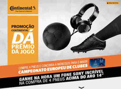 Promoção Continental Dá Prêmio Dá Jogo