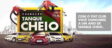 Promoção Tanque Cheio Fiat Club