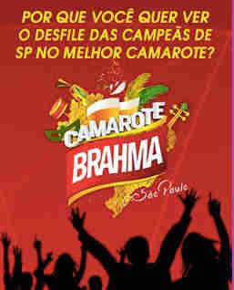 Promoção Transamérica Camarote Bar Brahma