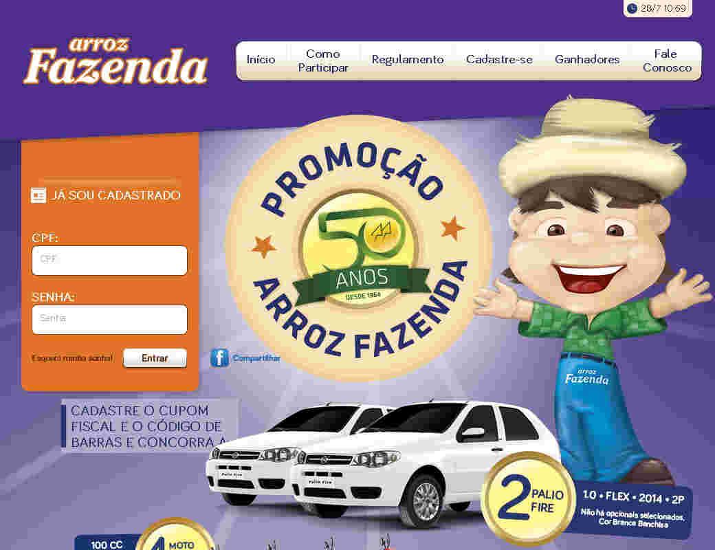 Promoção Arroz Fazenda 50 Anos 50 Prêmios