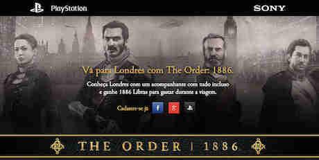 Promoção Visite Londres Com The Order 1886