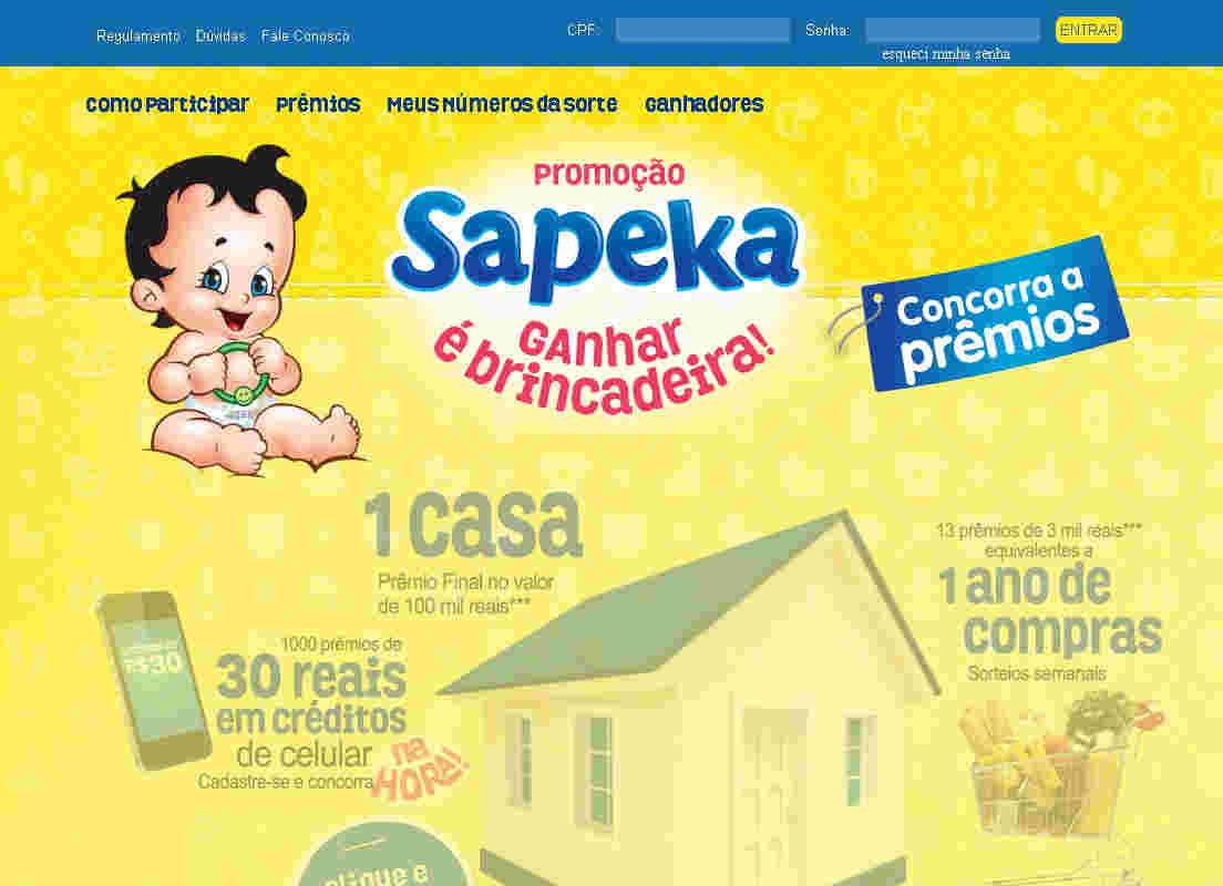 Promoção Sapeka Ganhar É Brincadeira