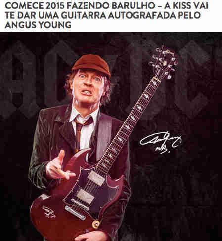 Concurso Cultural Guitarra Autografada Angus Young