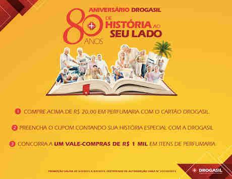 Promoção Aniversário Drogasil 80 Anos De História Ao Seu Lado