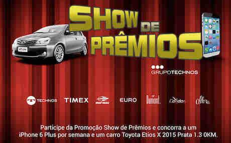 Promoção Show De Prêmios Grupo Technos