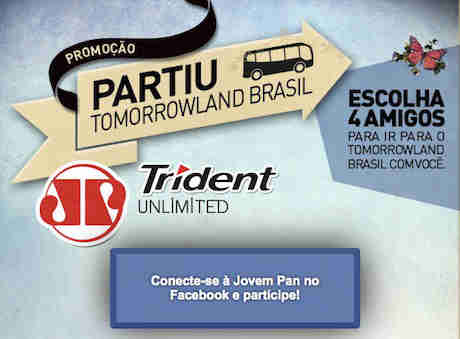 Promoção Partiu Tomorrowland Trident Jovem Pan
