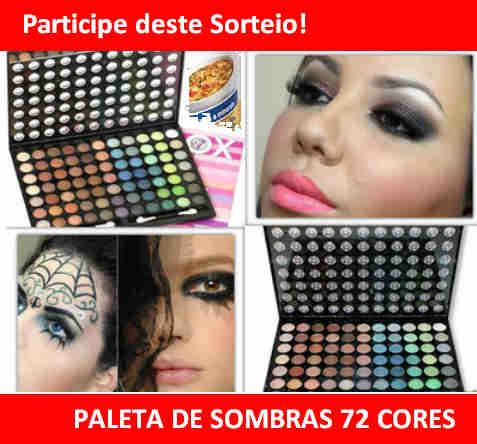 Participe Do Sorteio De Uma Paleta De Sombras 72 Cores