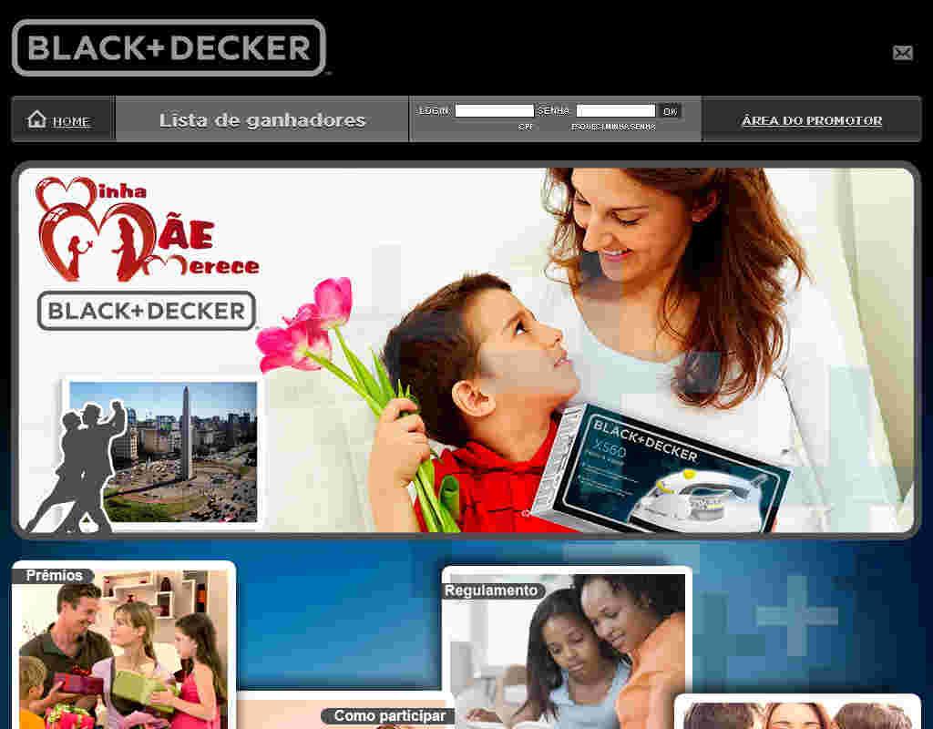 Promoção Minha Mãe Merece Black & Decker