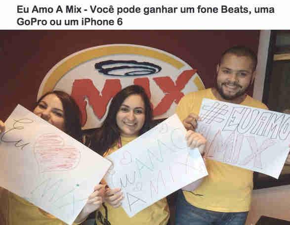 Promoção Eu Amo A Mix