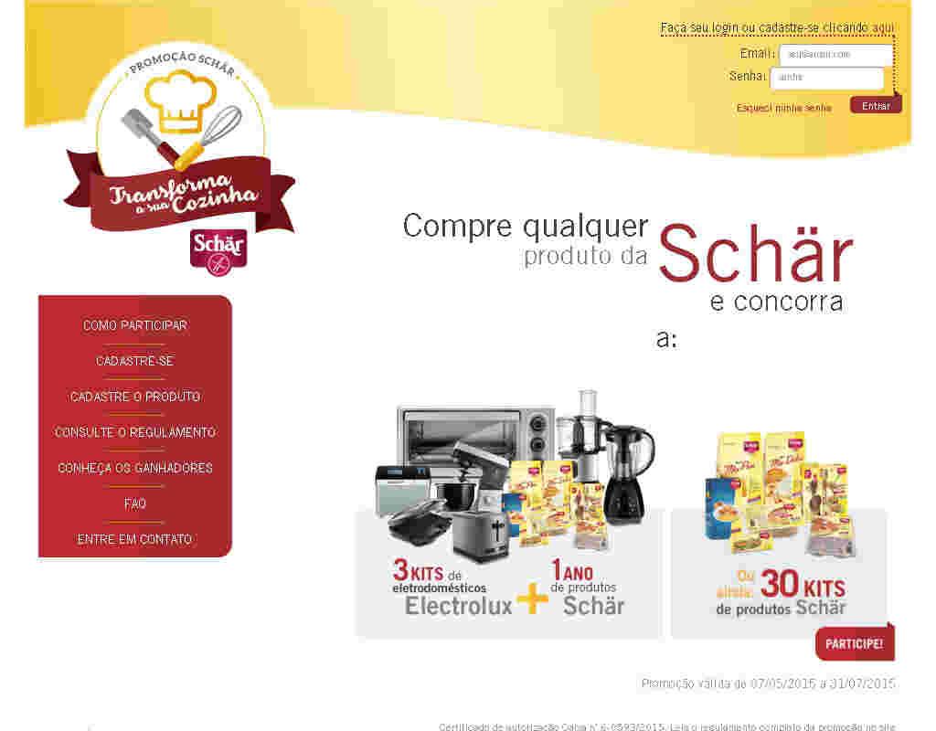 Promoção Schar Transforma Sua Cozinha