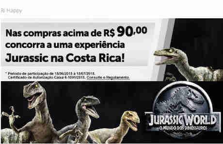 Promoção Ri Happy Jurassic World