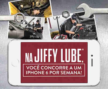 Promoção Jiffy Lube Concorra A 1 Iphone 6 Por Semana
