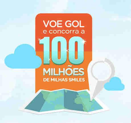Promoção Gol 100 Milhões De Milhas Smiles