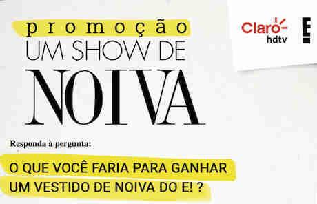 Promoção Um Show De Noiva Do Canal E!