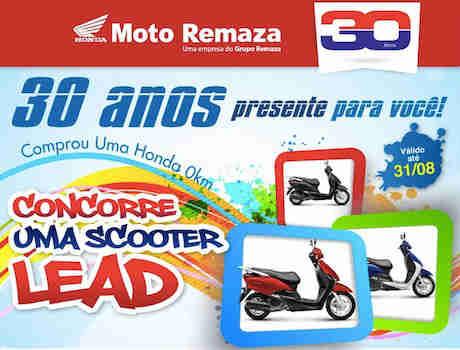 Promoção Moto Remaza 30 Anos Presente Para Você