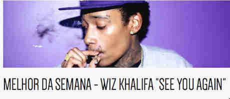 Promoção Wiz Khalifa See You Again