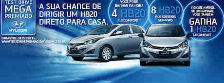 Promoção Test Drive Megapremiado Hyundai