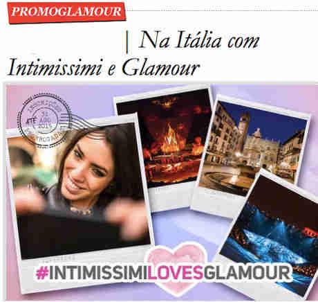 Promoção Na Itália Com Intimissimi E Glamour