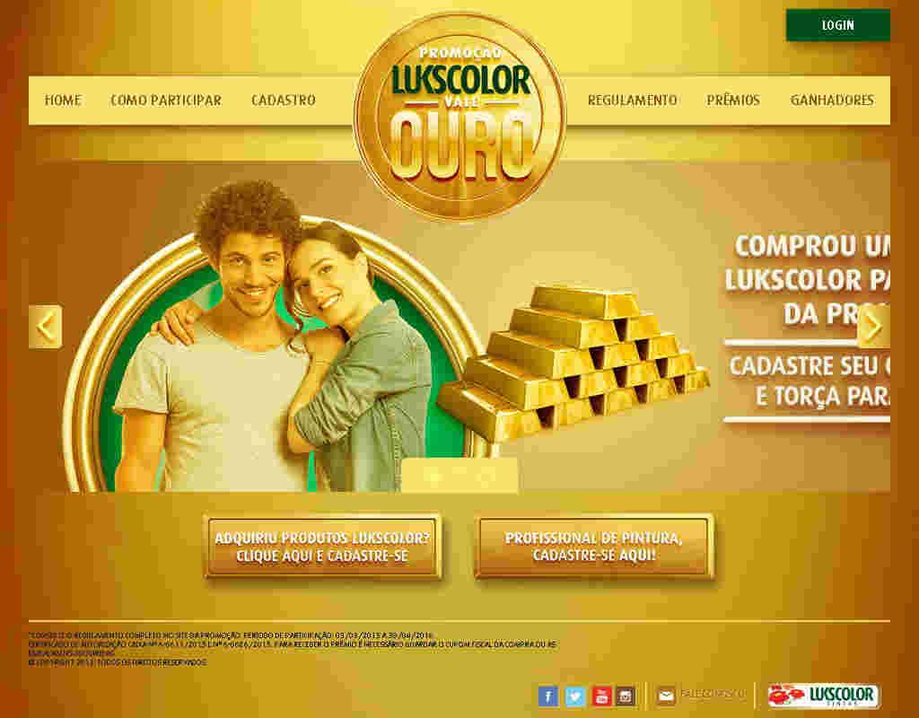 Promoção Lukscolor Vale Ouro