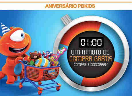 Promoção Aniversário Pbkids