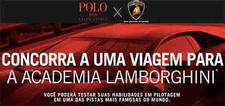 Promoção Ralph Lauren Polo Red X Lamborghini