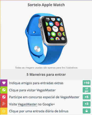 Promoção Ganhe Um Apple Watch Da Vegasmaster