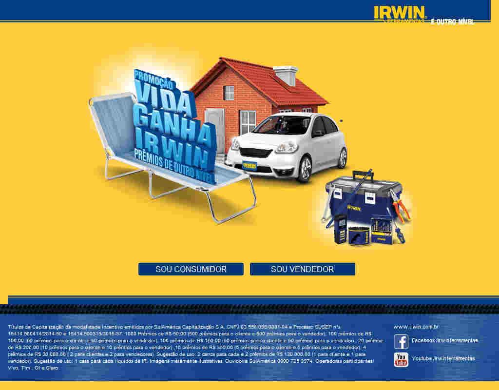 Promoção Vida Ganha Irwin
