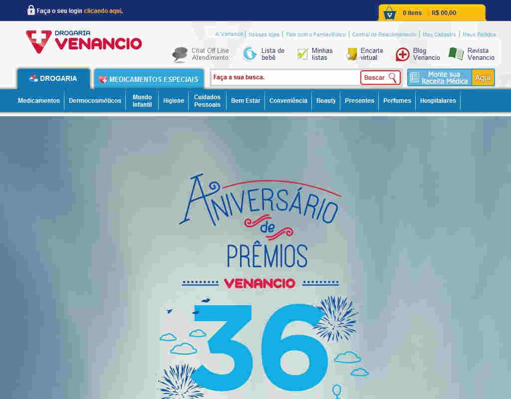 Promoção Aniversário De Prêmios Venancio 36 Anos