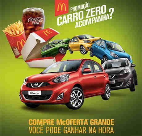 Promoção Mcdonald's Carro Zero Acompanha?