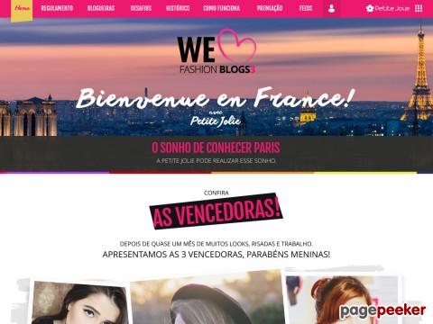 Promoção We Love Fashion Blogs Petite Jolie
