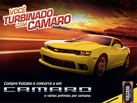 Promoção Vulcano Você Turbinado Com Camaro