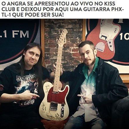 Concurso Cultural Guitarra Autografada Angra