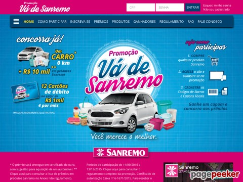 Promoção Vá De Sanremo