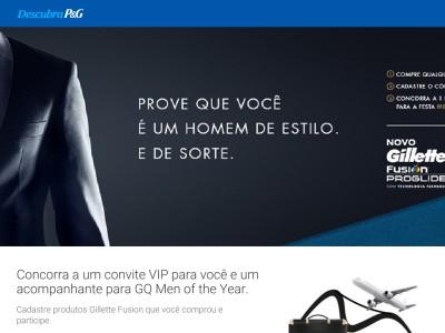 Promoção Men Of The Year Gillette Flexball E Gq