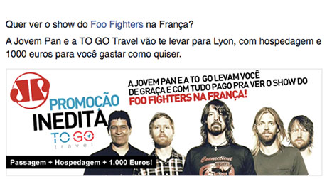 Promoção Foo Fighters Na França