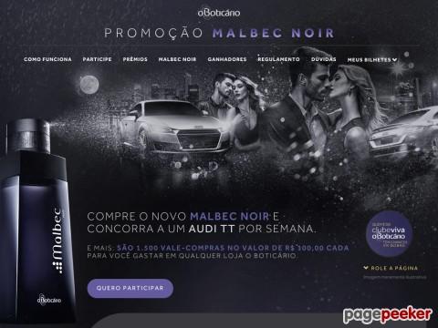 Promoção O Boticário Malbec Noir