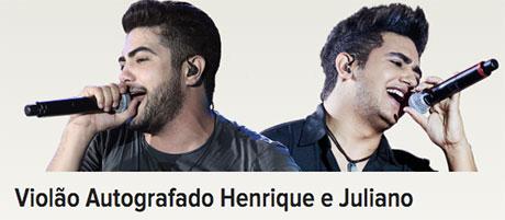 Promoção Violão Autografado Henrique E Juliano