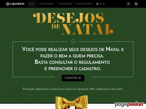 Promoção Capodarte Desejos De Natal