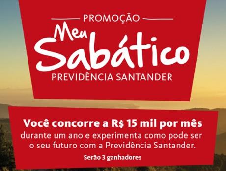 Promoção Meu Sabático Previdência Santander