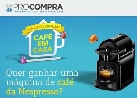 Concurso Cultural Procompra Café Em Casa