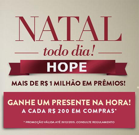 Promoção Natal Todo Dia Hope