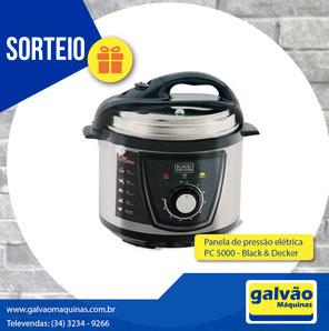 Promoção Sorteio Torneadora Galvão & Galvão Máquinas